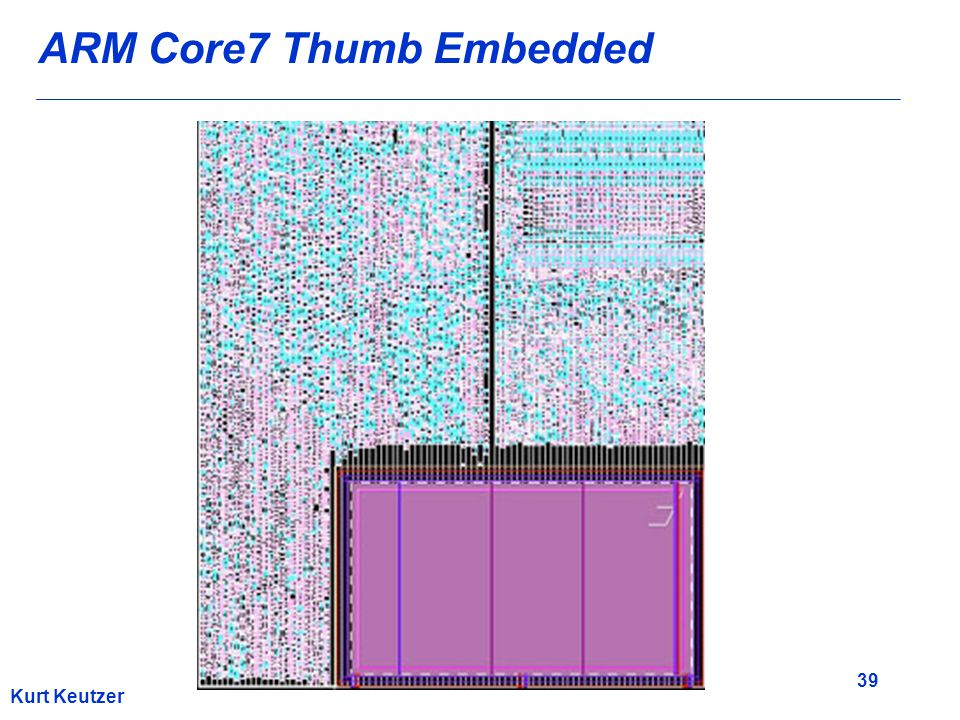 39 Kurt Keutzer ARM Core7 Thumb Embedded