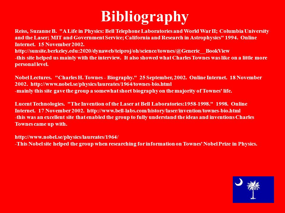 Bibliography Reiss, Suzanne B.