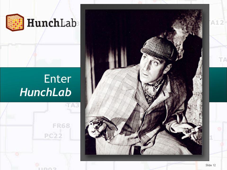 Slide 12 Enter HunchLab