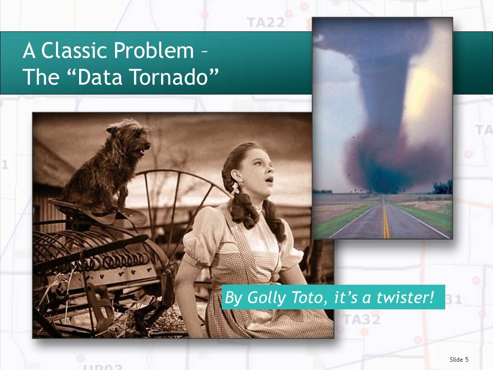 Slide 5 A Classic Problem – The Data Tornado By Golly Toto, it's a twister!