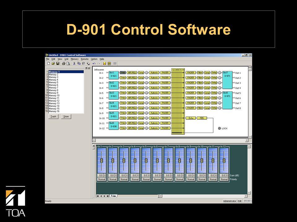 D-901 Control Software