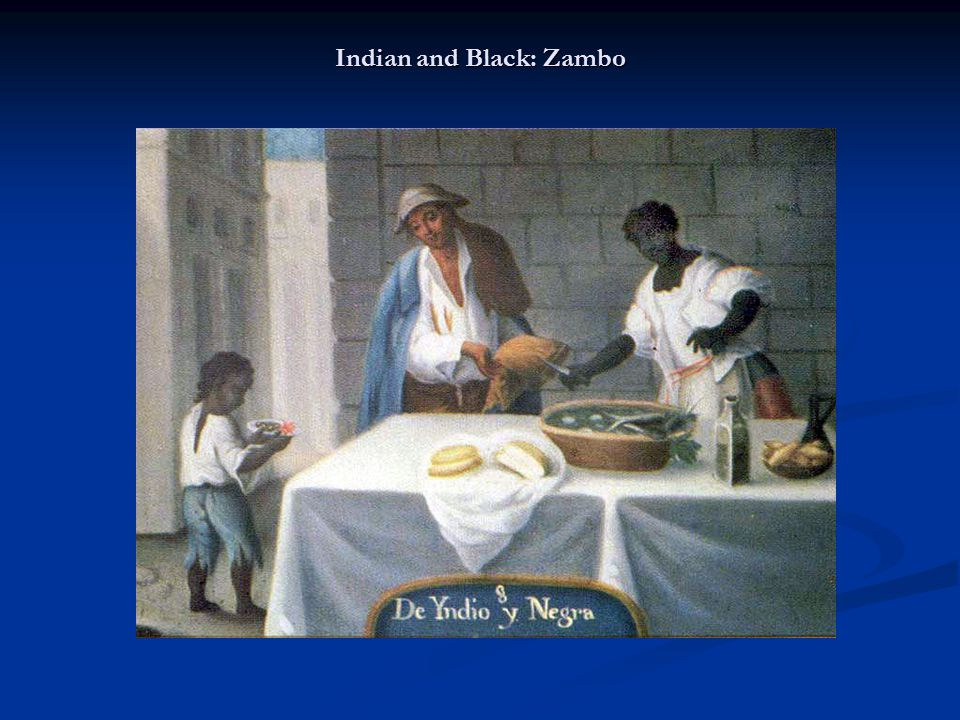Indian and Black: Zambo