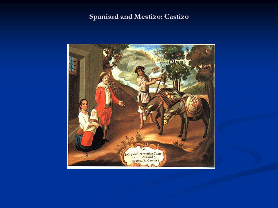 Spaniard and Mestizo: Castizo