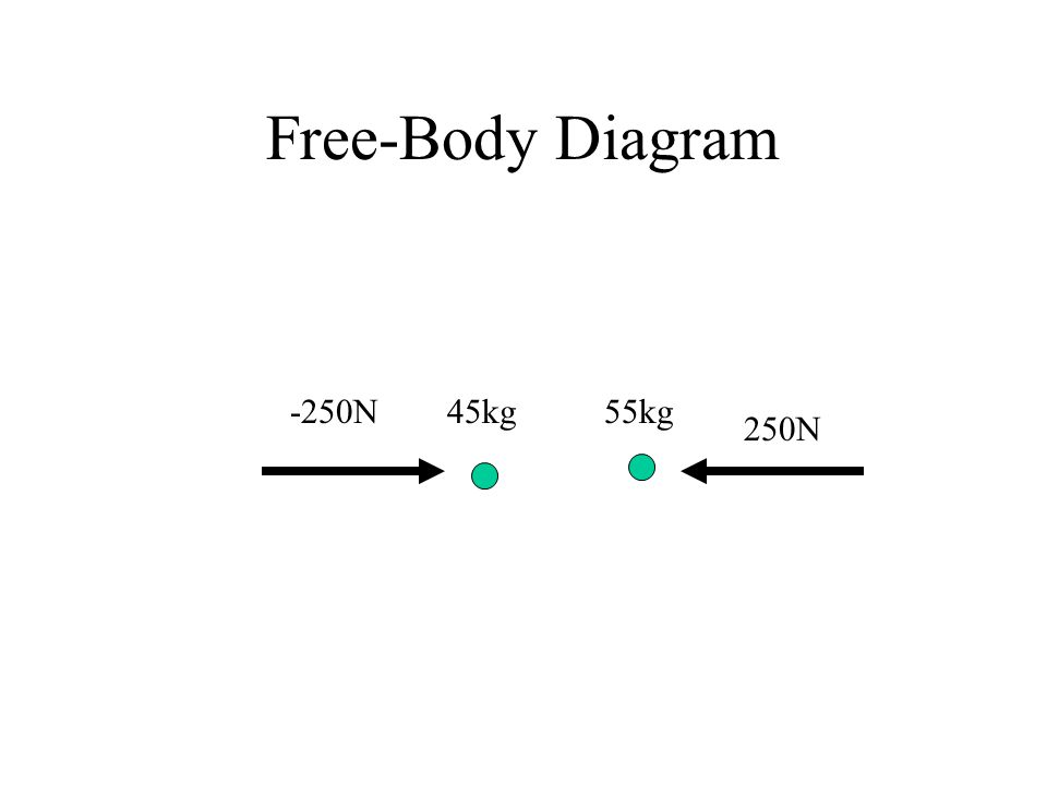 Free-Body Diagram -250N 250N 45kg55kg