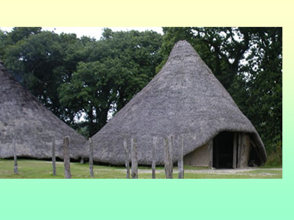 Where other people live in Early Christian times Ring forts or raths Crannogs Wattle and daub houses with thatch roofs