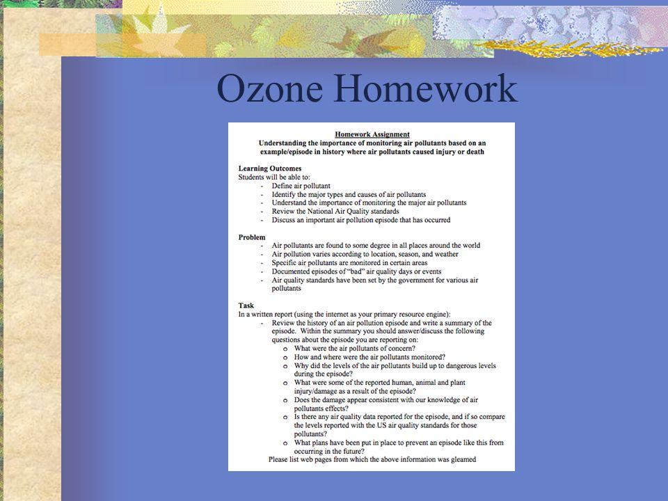 Ozone Homework