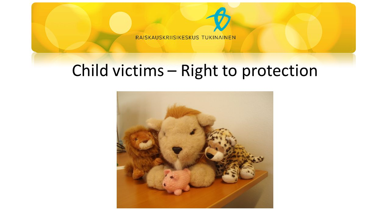 Child victims – Right to protection