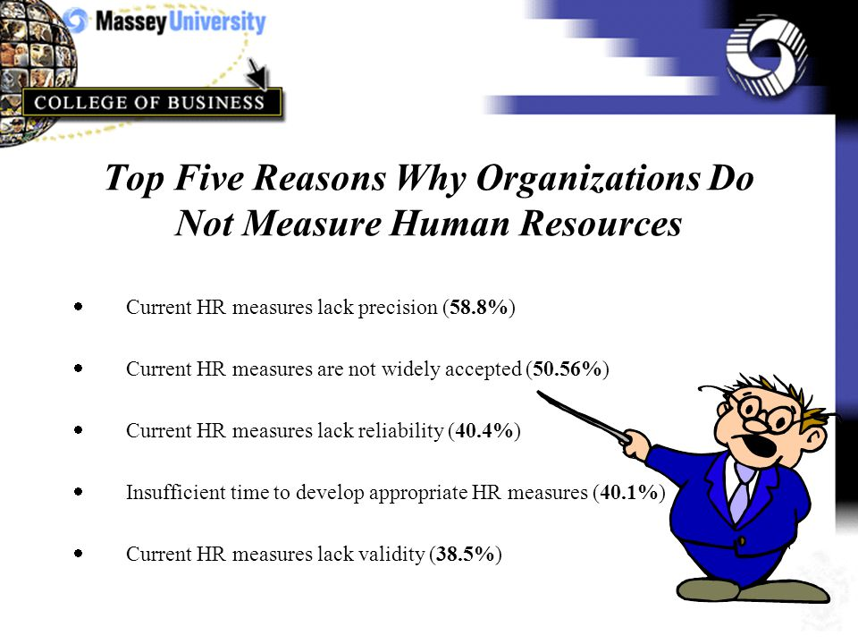Factor Analysis of the Sixteen Statements About The Importance Of Measuring Human Resources Reason 1 (Measurement Reflects The Strategic And Competitive Importance of Human Resources) Reason 2 (To achieve credibility human resource management must be expressed in financial terms) There are two principal clusters