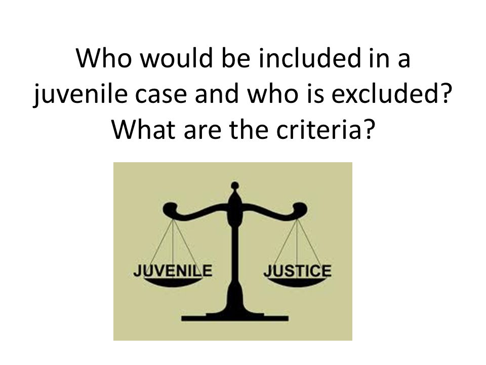 Status Offenses It is hard to justify incarceration for a behavior that would not be considered a crime when the juvenile gets older.