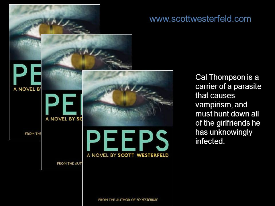 Cal Thompson is a carrier of a parasite that causes vampirism, and must hunt down all of the girlfriends he has unknowingly infected. www.scottwesterf