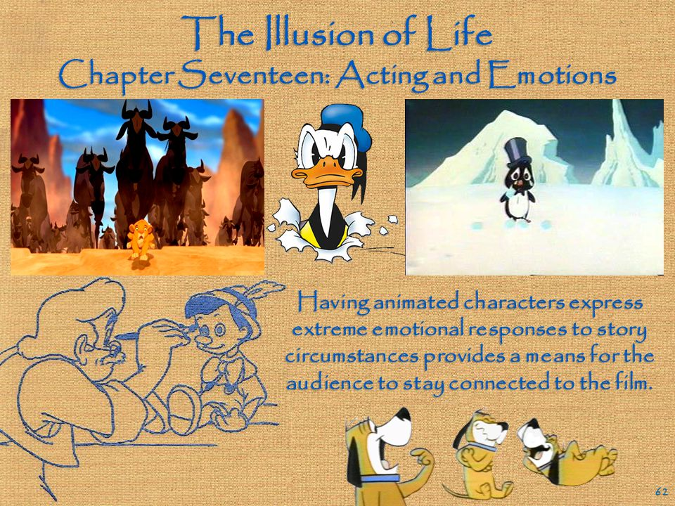 The Illusion of Life Chapter Sixteen: Animating Expressions and Dialogue 61 Shaping the mouth of an animated character to correspond to what the chara