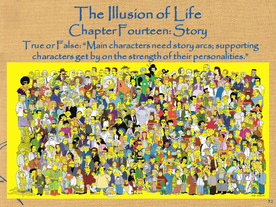The Illusion of Life Chapter Fourteen: Story 51 Can animation drive the story.