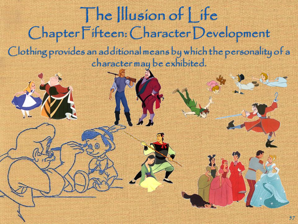 The Illusion of Life Chapter Fifteen: Character Development 56 What similarities and differences are there between these four Disney ape characters? B