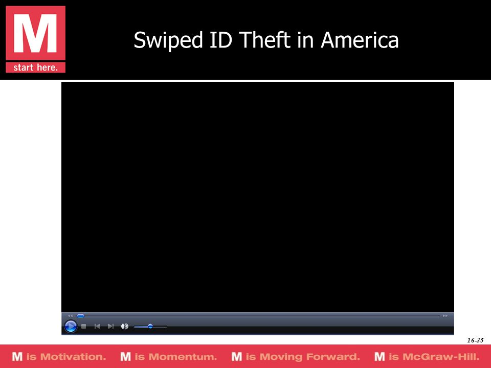 Swiped ID Theft in America 16-35