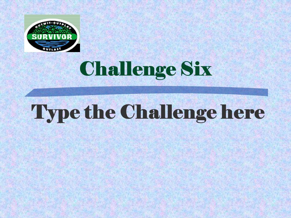 Answer Six Type Answer Here