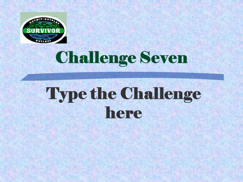 Answer Seven Type Answer Here