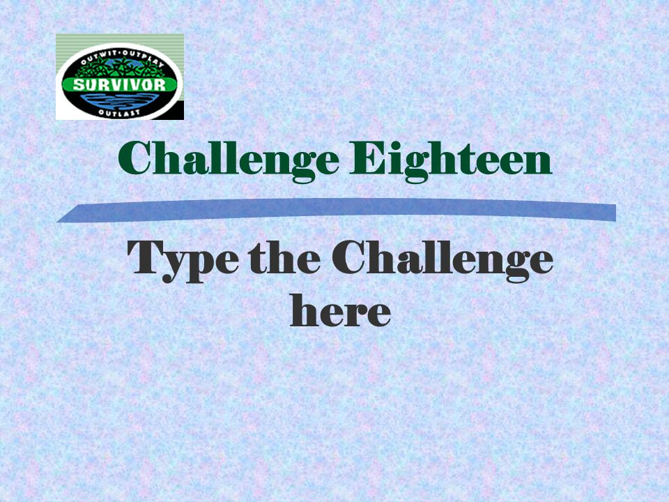 Answer Eighteen Type Answer Here