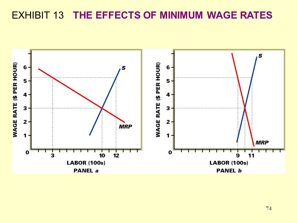 74 EXHIBIT 13THE EFFECTS OF MINIMUM WAGE RATES