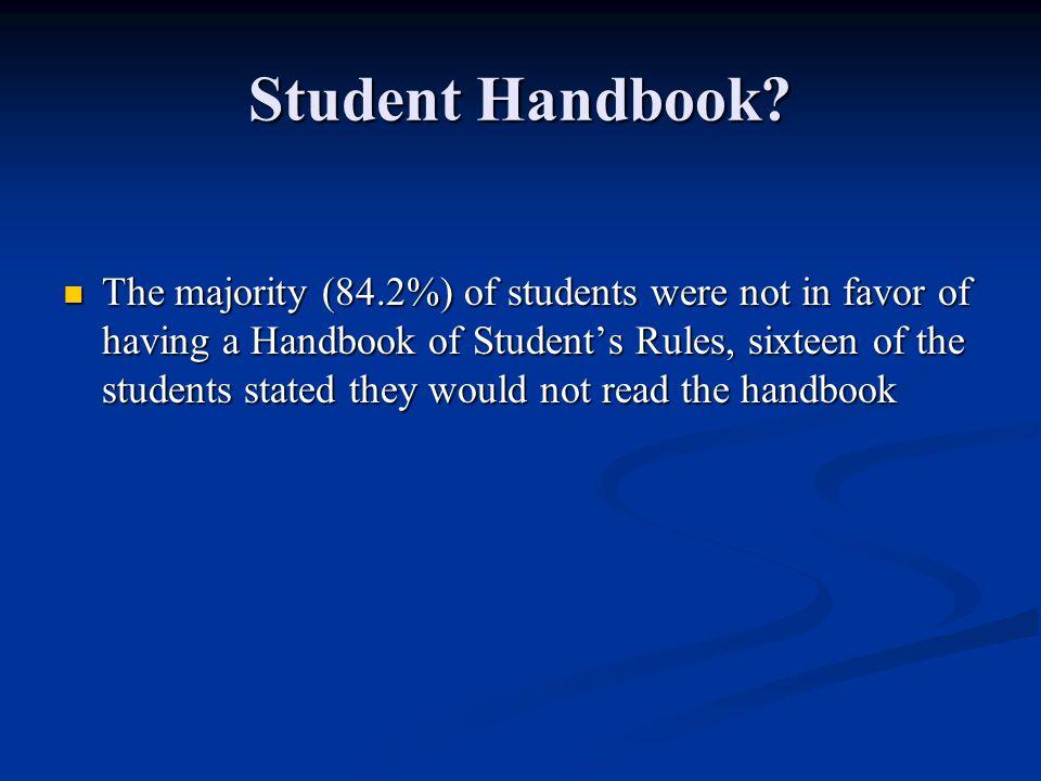 Student Handbook.