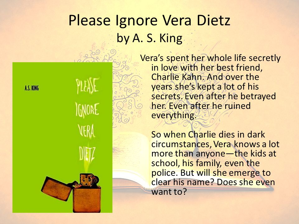 Please Ignore Vera Dietz by A. S.