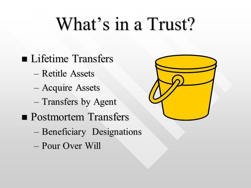 What's in a Trust.