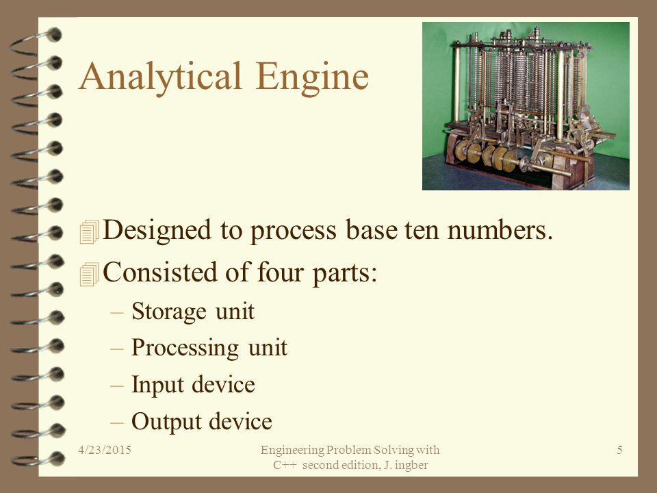 Charles Babbage, Esq. 1792-1871 4 English mathematician.