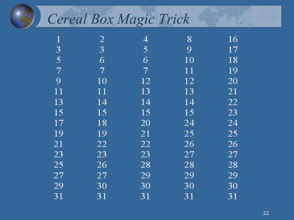 22 Cereal Box Magic Trick