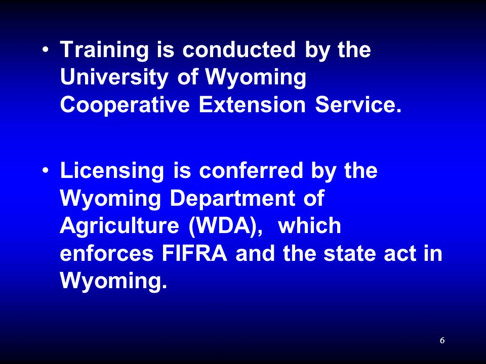7 Applicator Classifications Private Pesticide Applicator: –is an individual sixteen (16) years of age or older who is licensed to apply or supervise the application of RESTRICTED USE PESTICIDES to their own properties, either owned or leased, or who may apply restricted use pesticides for other individuals on their properties, owned or leased either for no charge, or as an exchange of services, but not for pay, in the production of an agricultural commodity.