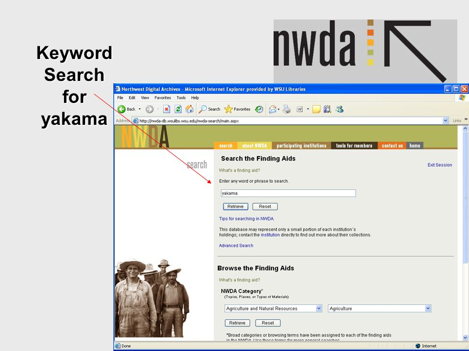 12 Keyword Search for yakama