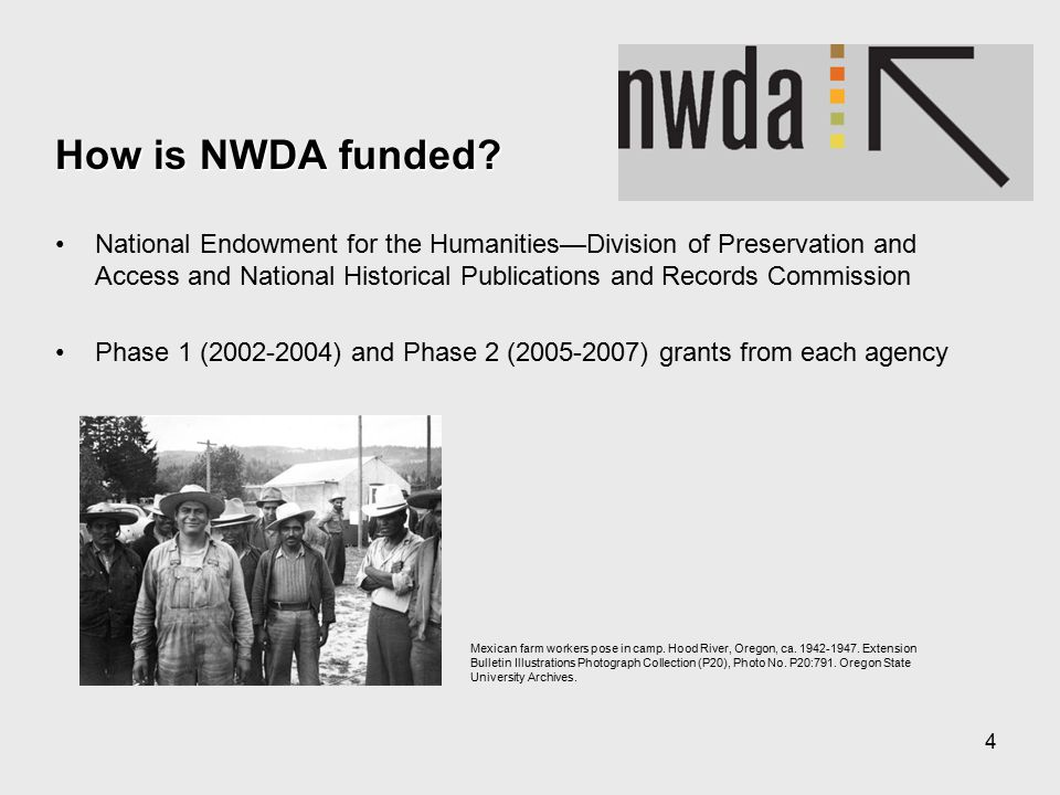 4 How is NWDA funded.