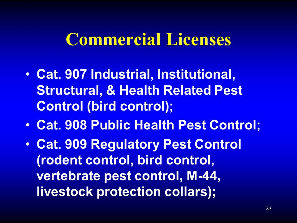 23 Commercial Licenses Cat.