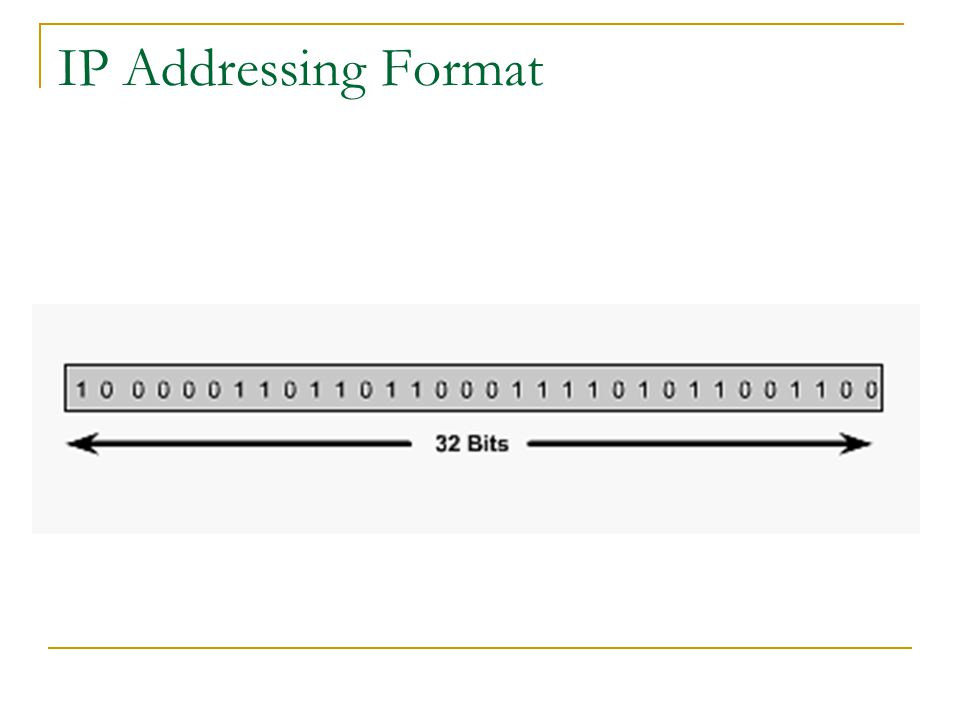 IP Addressing Format