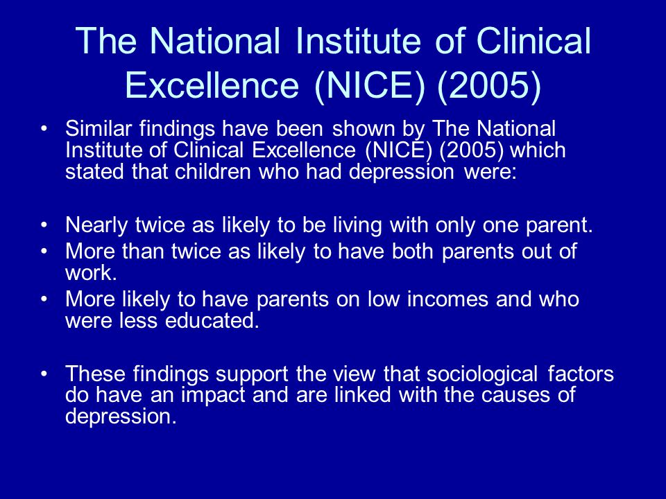 References NICE (2005) Depression in children and young people.