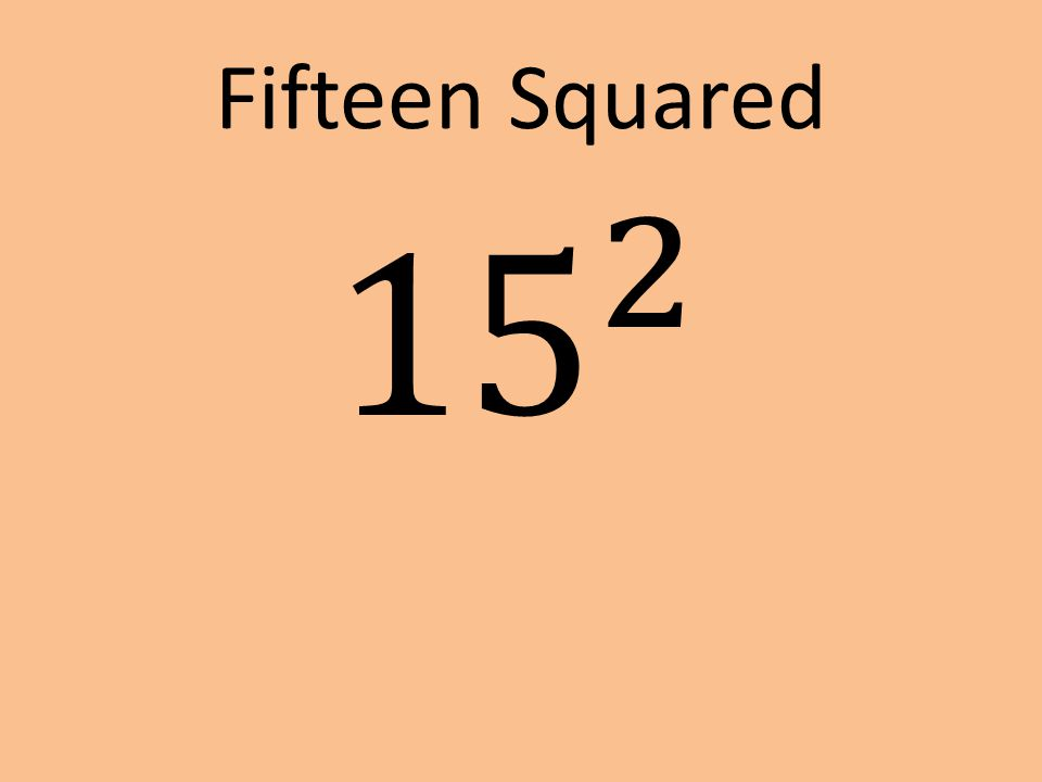 Fifteen Squared