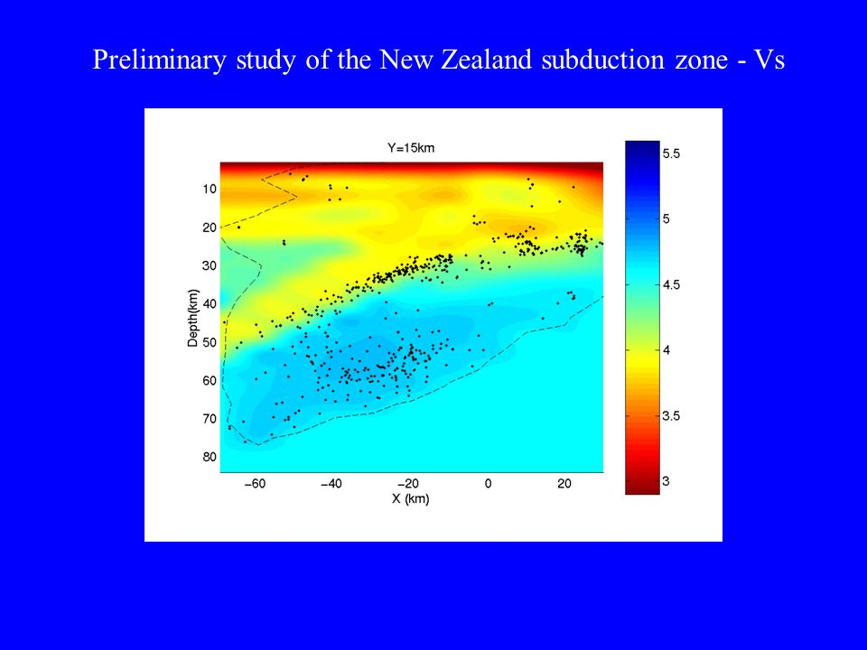 Preliminary study of the New Zealand subduction zone - Vs
