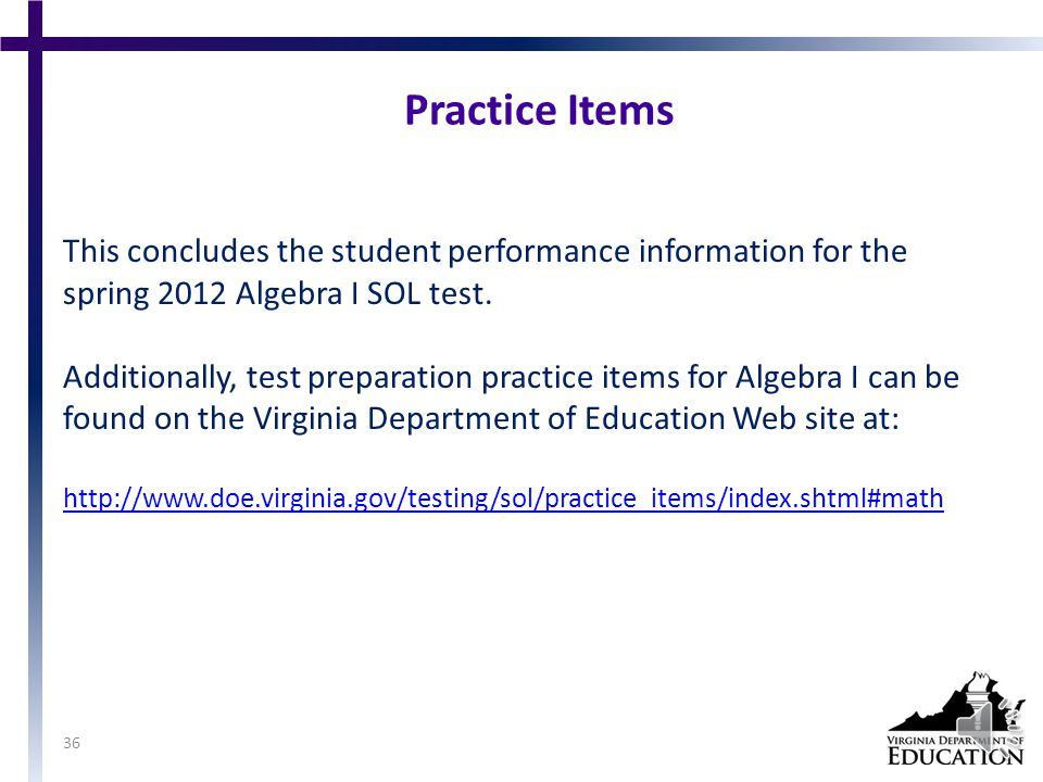 Suggested Practice for SOL A.11 Students need additional practice making predictions using the linear or quadratic curve of best fit.