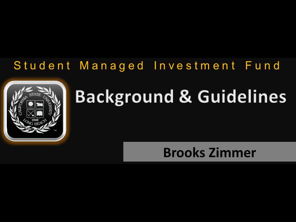 Student Managed Investment Fund Brooks Zimmer