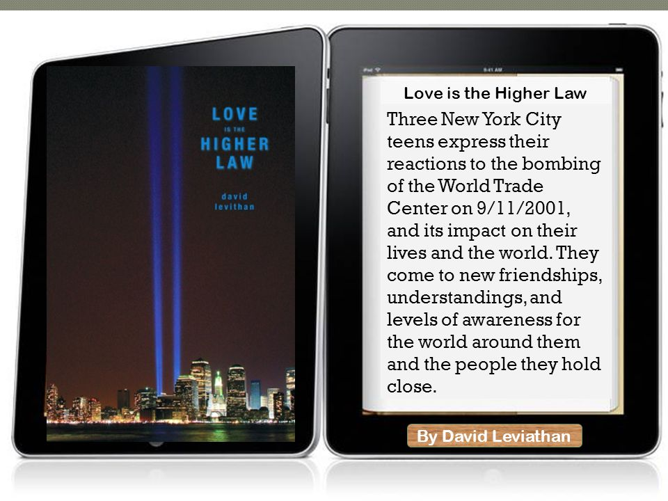 By David Leviathan Three New York City teens express their reactions to the bombing of the World Trade Center on 9/11/2001, and its impact on their lives and the world.