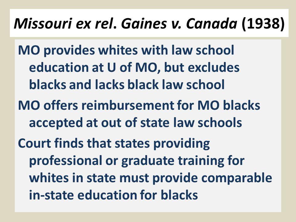 Missouri ex rel. Gaines v.