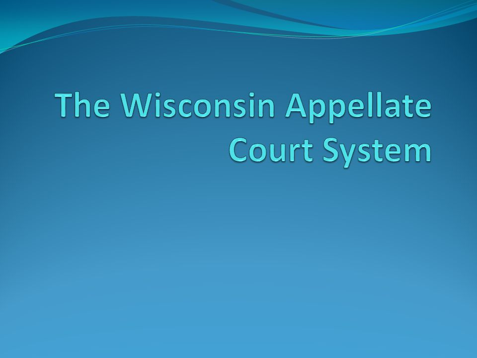 Overview The structure of the Wisconsin court system The process of appeals in Wisconsin Pro se litigants Ethical considerations The structure of the Wisconsin court system The process of appeals in Wisconsin Pro se litigants Ethical considerations