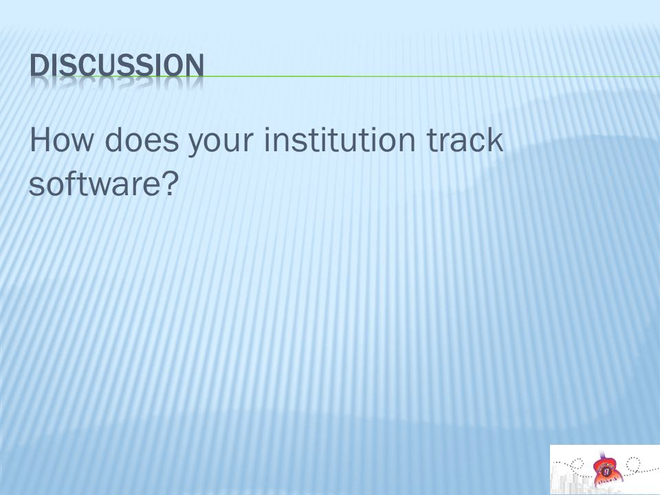 How does your institution track software