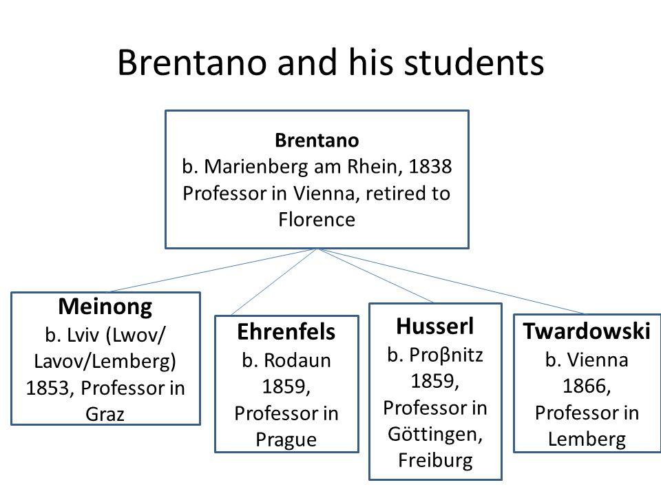 Brentano and his students Brentano b.