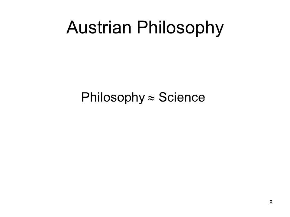 Austrian Philosophy Philosophy  Science 8
