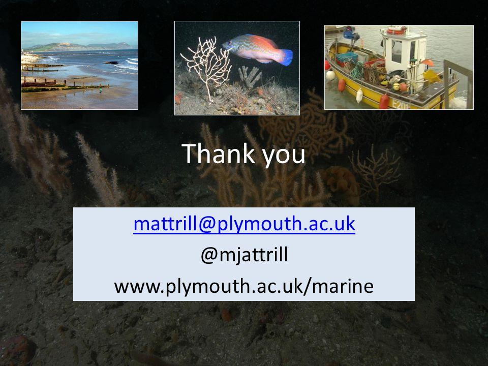 Thank you mattrill@plymouth.ac.uk @mjattrill www.plymouth.ac.uk/marine