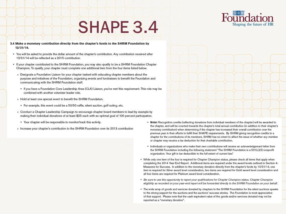 SHAPE 3.4