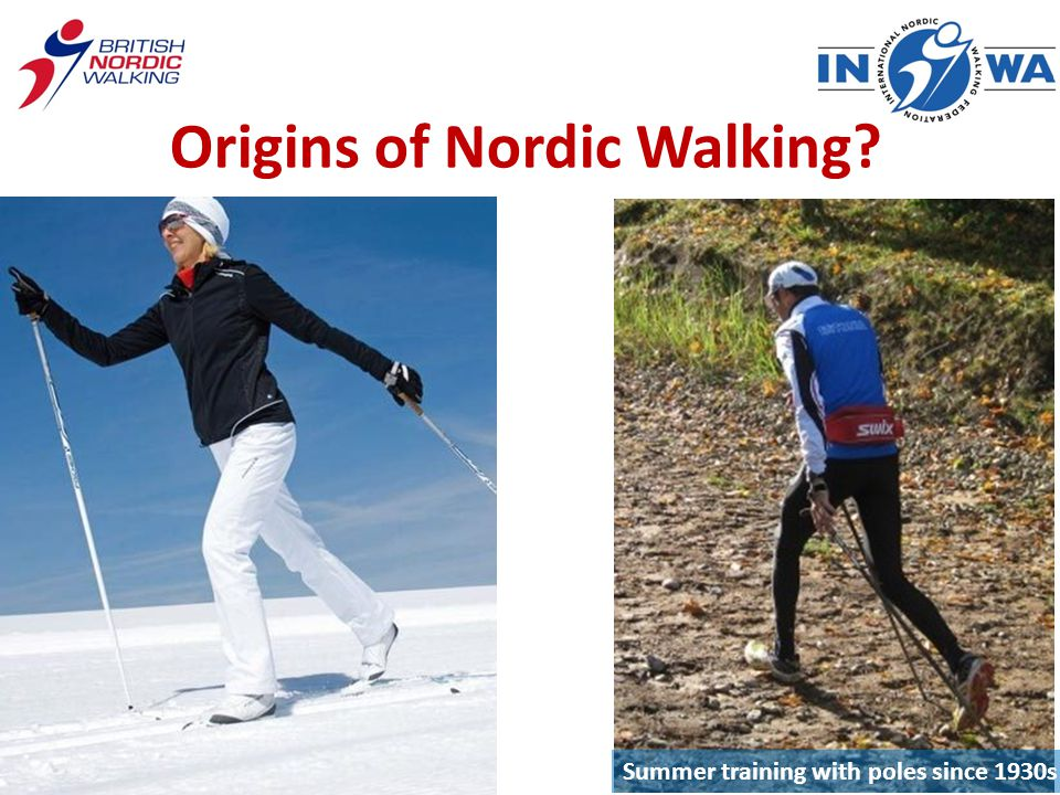 Origins of Nordic Walking Summer training with poles since 1930s