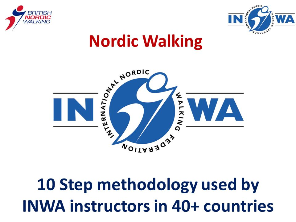 Nordic Walking 10 Step methodology used by INWA instructors in 40+ countries