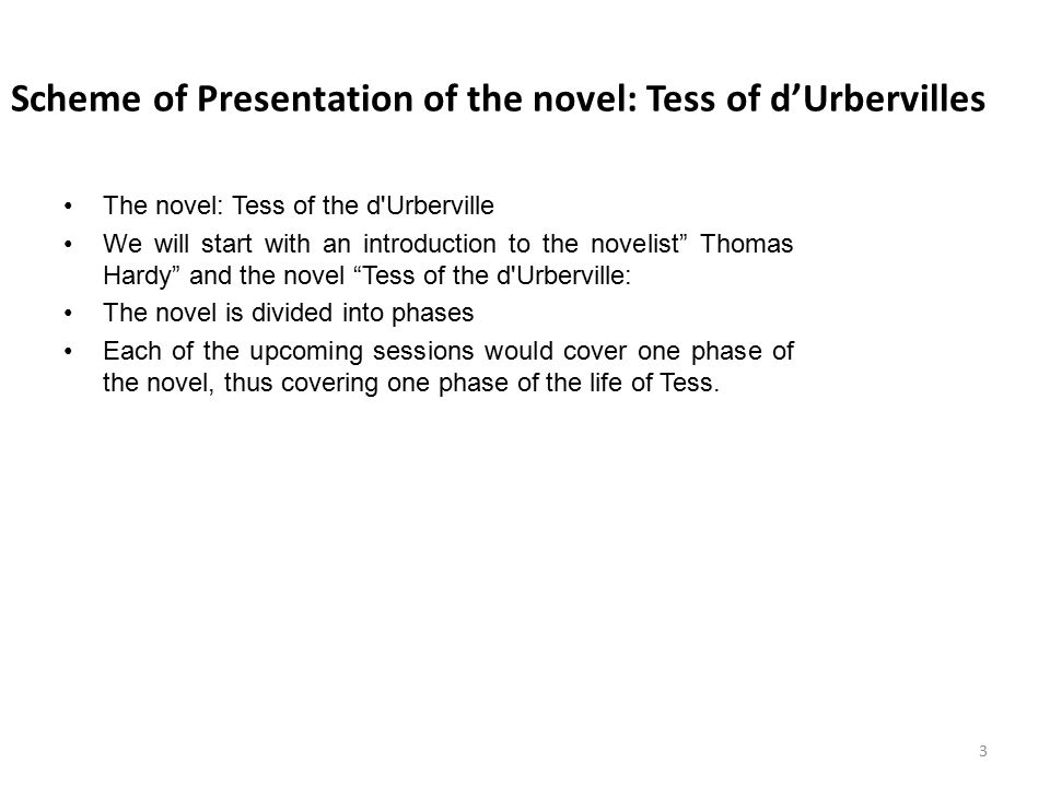 Tess of the d'Urbervilles: Themes Inevitable Suffering Permanence of Sin Social Class Changing ideas of Social Class in Victorian England Economic Repression Fate Male Dominance Responsibility Guilt 24