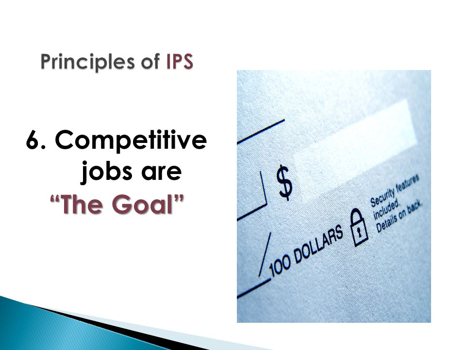 """6. Competitive jobs are """"The Goal"""""""
