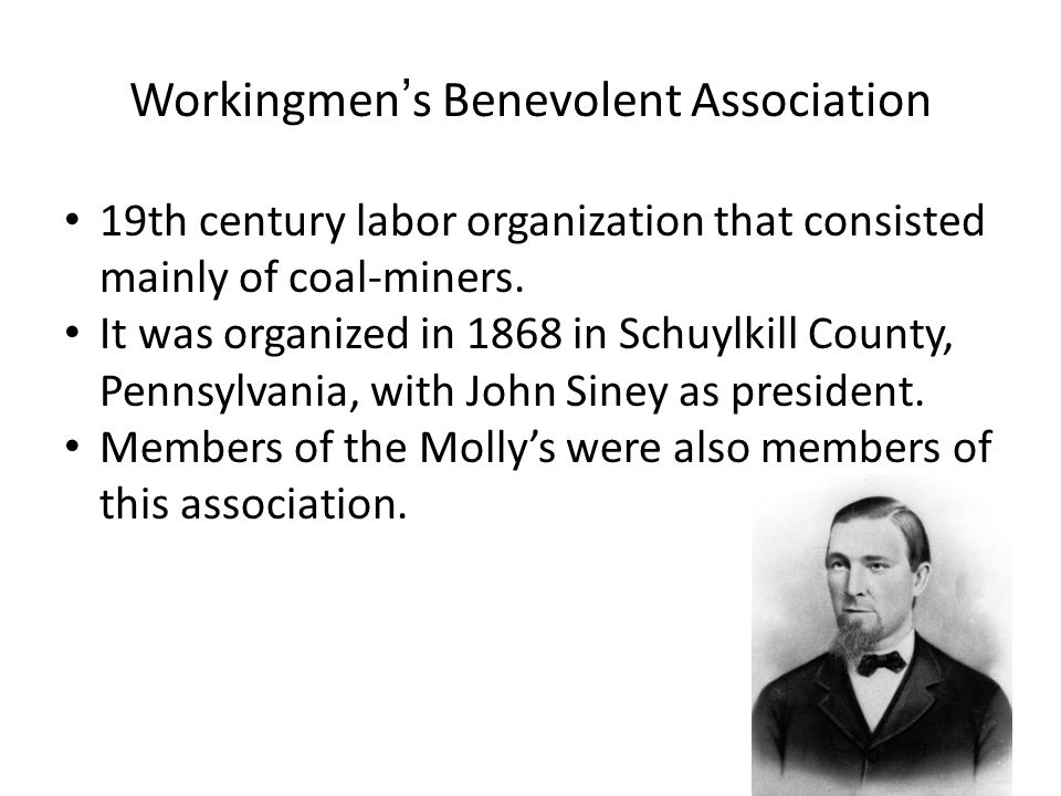 19th century labor organization that consisted mainly of coal-miners.